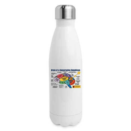Brain of a Conservative Republican - Insulated Stainless Steel Water Bottle