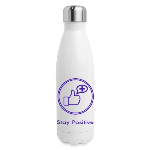 Stay Positive Icons without inwils - Insulated Stainless Steel Water Bottle