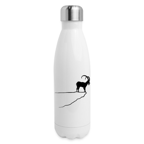 ibex capricorn mountain goat sheep rock climbing - Insulated Stainless Steel Water Bottle