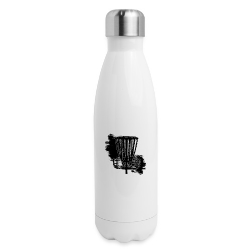 Disc Golf Basket Paint Black Print - Insulated Stainless Steel Water Bottle