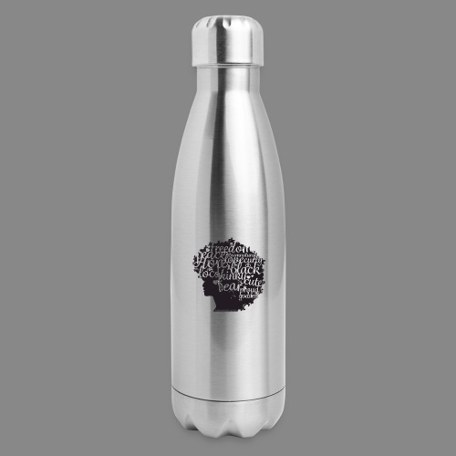 Afro Text II - Insulated Stainless Steel Water Bottle