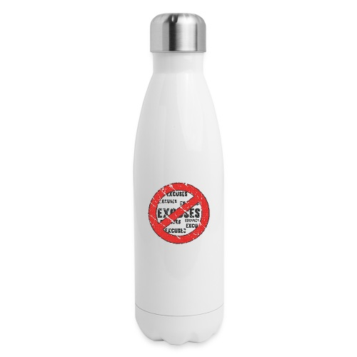 No Excuses | Vintage Style - Insulated Stainless Steel Water Bottle