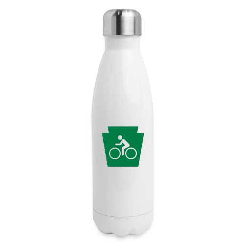 PA Keystone w/Bike (bicycle) - Insulated Stainless Steel Water Bottle