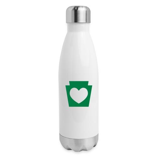 Love/Heart PA Keystone - Insulated Stainless Steel Water Bottle