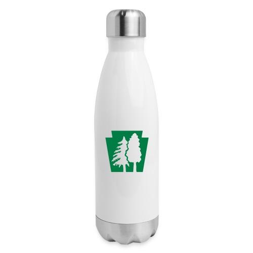 PA Keystone w/trees - Insulated Stainless Steel Water Bottle
