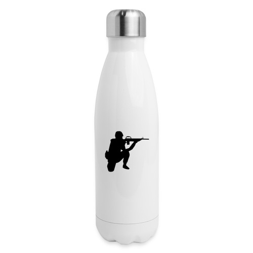 Infantry at ready for action. - Insulated Stainless Steel Water Bottle