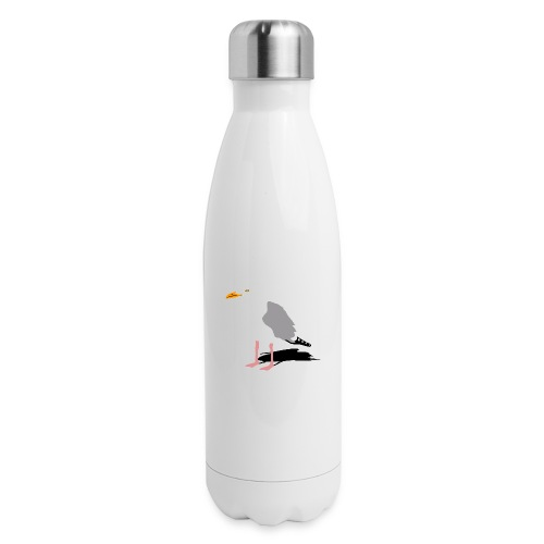 sea gull seagull harbour bird beach sailing - Insulated Stainless Steel Water Bottle