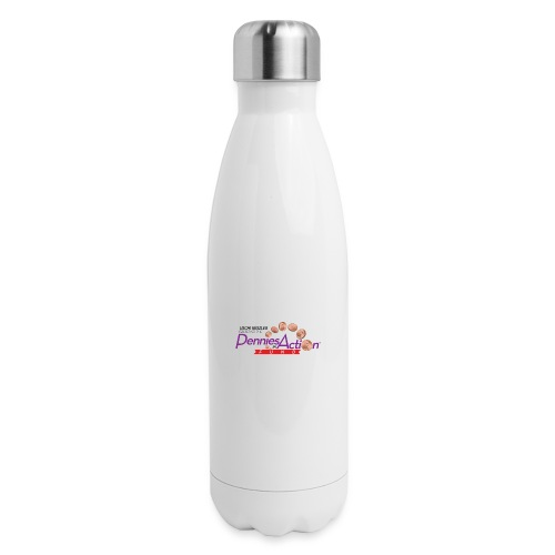 Pennies In Action Logo - Insulated Stainless Steel Water Bottle