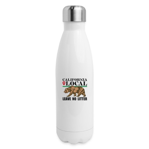 California Local Leave No Litter - Insulated Stainless Steel Water Bottle