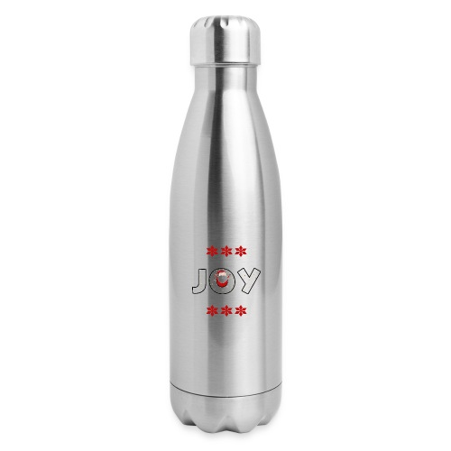 Christmas JOY Santa Clause Ugly Style - Insulated Stainless Steel Water Bottle