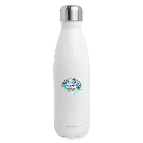 brain fact - Insulated Stainless Steel Water Bottle