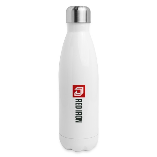 Red Iron Color Logo (Black) - Insulated Stainless Steel Water Bottle