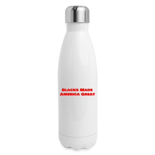 (blacks_made_america1) - Insulated Stainless Steel Water Bottle