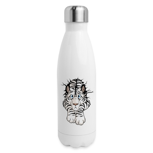 STUCK Tiger White (double-sided) - Insulated Stainless Steel Water Bottle