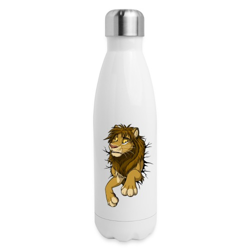 STUCK Lion (black cracks) - Insulated Stainless Steel Water Bottle