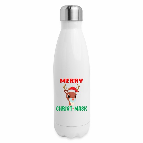 Merry Christmask Rudolph Red Nose Mask Reindeer. - Insulated Stainless Steel Water Bottle