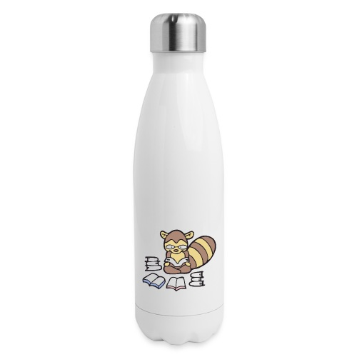 Reading Raccoon - Insulated Stainless Steel Water Bottle