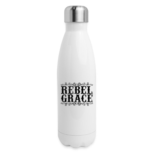 Black Filigree - Insulated Stainless Steel Water Bottle