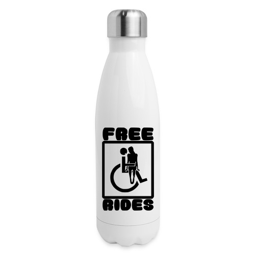 Free rides, wheelchair humor - Insulated Stainless Steel Water Bottle
