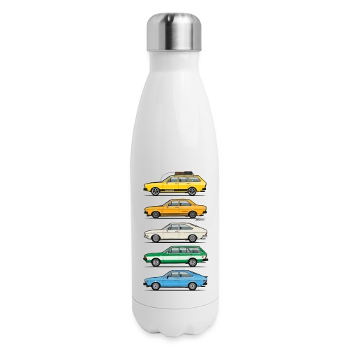 Stack of VAG B1 VDubs and Four Rings - Insulated Stainless Steel Water Bottle