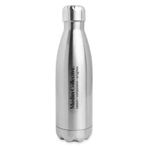 Muslim Collective Logo + tagline - Insulated Stainless Steel Water Bottle