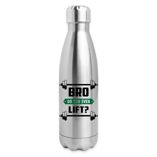 Fitness Quote 01 - Insulated Stainless Steel Water Bottle