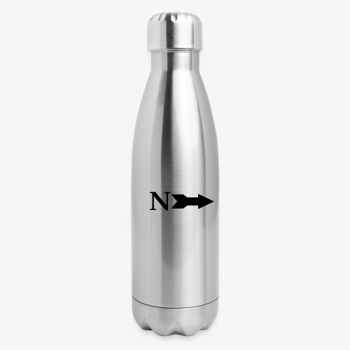 Narrow Logo Black - Insulated Stainless Steel Water Bottle