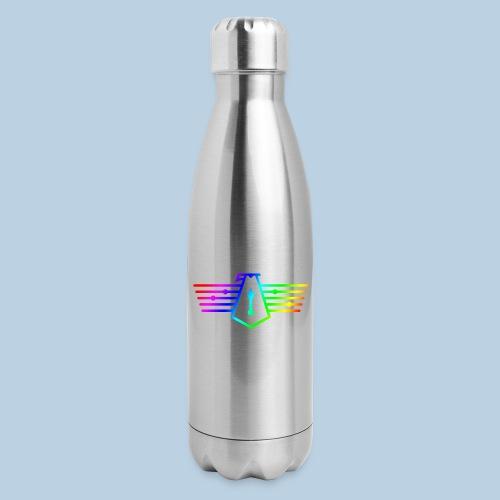 Westport Bird Rainbow on transparent - Insulated Stainless Steel Water Bottle