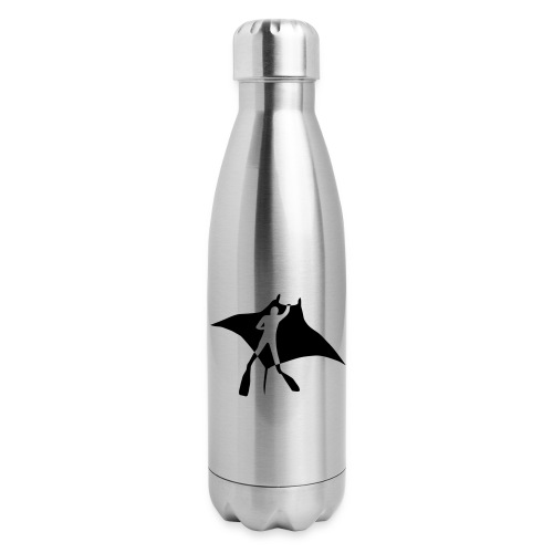 manta ray sting scuba diving diver dive fish ocean - Insulated Stainless Steel Water Bottle