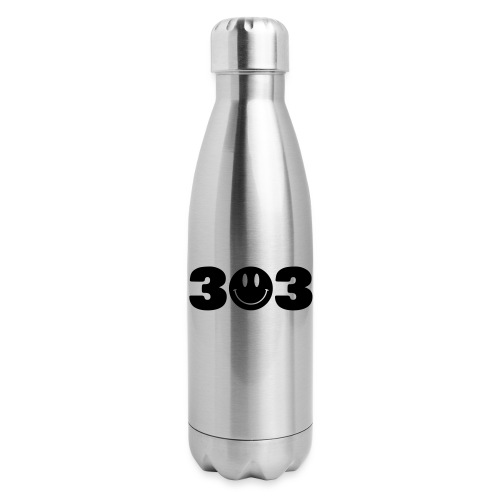 3 Smiley 3 - Insulated Stainless Steel Water Bottle