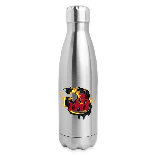 BAB Logo on FIRE! - Insulated Stainless Steel Water Bottle