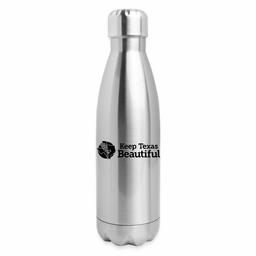 Keep Texas Beautiful - Horizontal Black - Insulated Stainless Steel Water Bottle