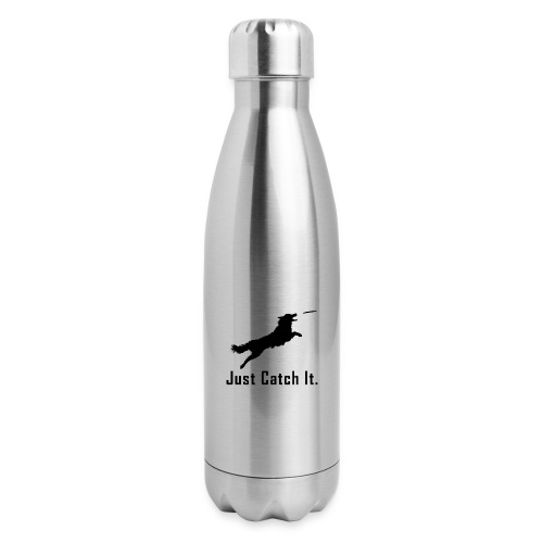 Just Catch It (Black) - Insulated Stainless Steel Water Bottle