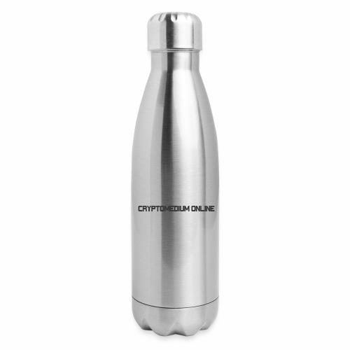 Cryptomedium logo dark - Insulated Stainless Steel Water Bottle