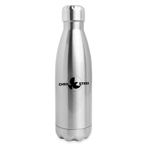 Chris Strei BlackBird Logo (black) - Insulated Stainless Steel Water Bottle