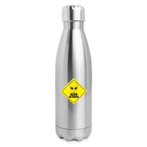 Alien on Board - Insulated Stainless Steel Water Bottle