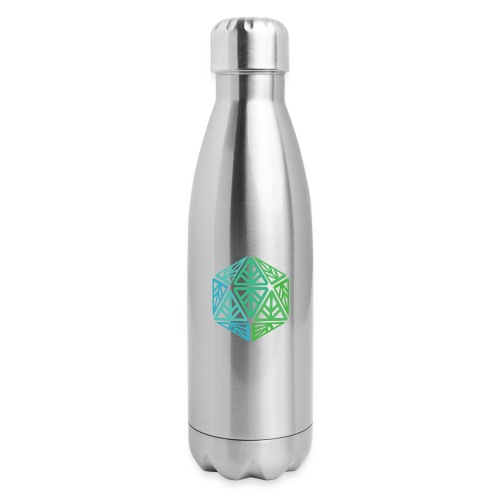 Green Leaf Geek Iconic Logo - Insulated Stainless Steel Water Bottle