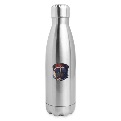 Dog head smoke - Insulated Stainless Steel Water Bottle