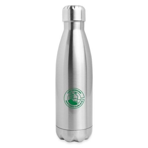 Camp Mendocino Green - Insulated Stainless Steel Water Bottle
