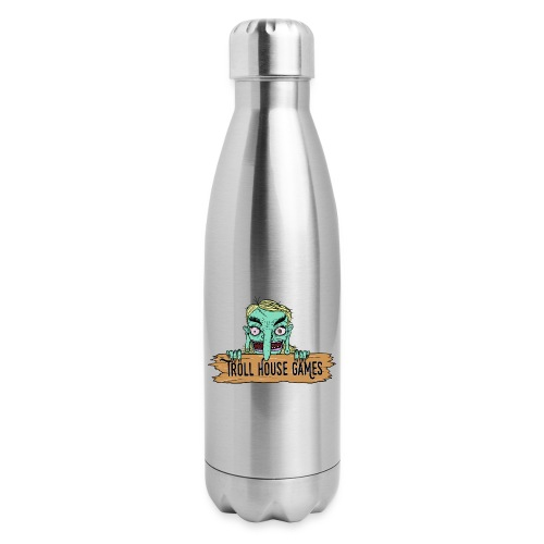 Troll House Games Cartoon Logo - Insulated Stainless Steel Water Bottle