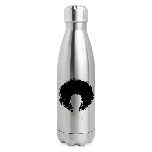 Black Afro American Latina Natural Hair - Insulated Stainless Steel Water Bottle