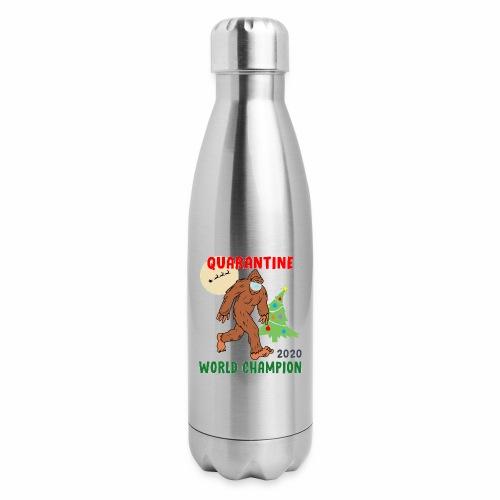 Quarantine World Champion Sasquatch Mask Christmas - Insulated Stainless Steel Water Bottle