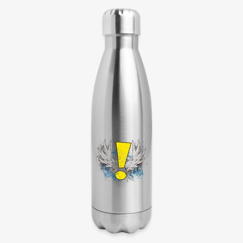 Winged Whee! Exclamation Point - Insulated Stainless Steel Water Bottle