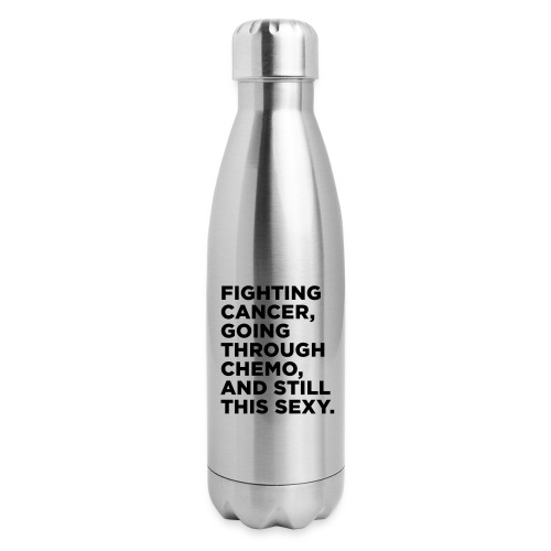 Cancer Fighter Quote - Insulated Stainless Steel Water Bottle