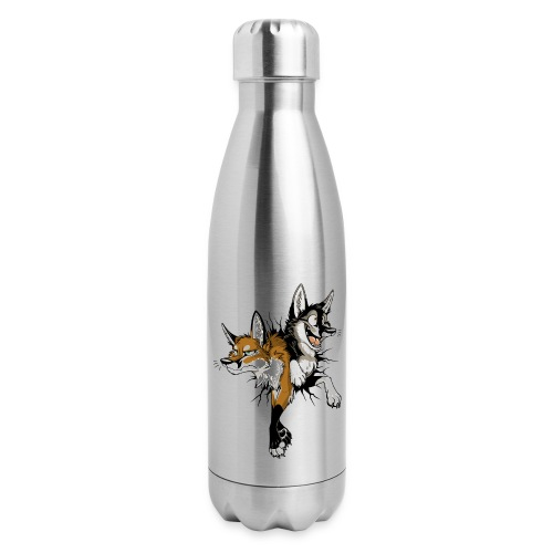 STUCK Foxes (double-sided) - Insulated Stainless Steel Water Bottle