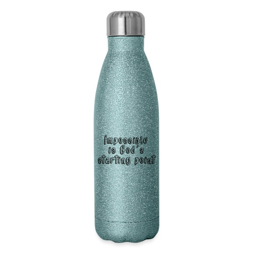 God's starting point - Insulated Stainless Steel Water Bottle