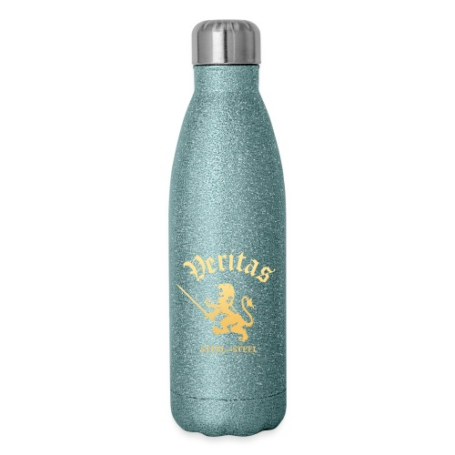 Gold Lion Veritas Logo - Insulated Stainless Steel Water Bottle
