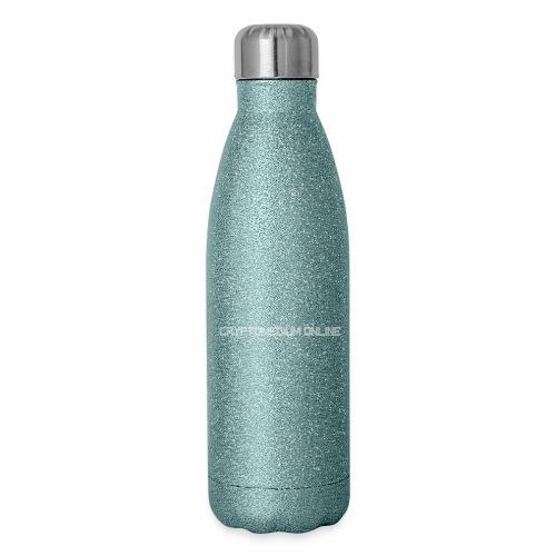 cryptomedium logo light - Insulated Stainless Steel Water Bottle