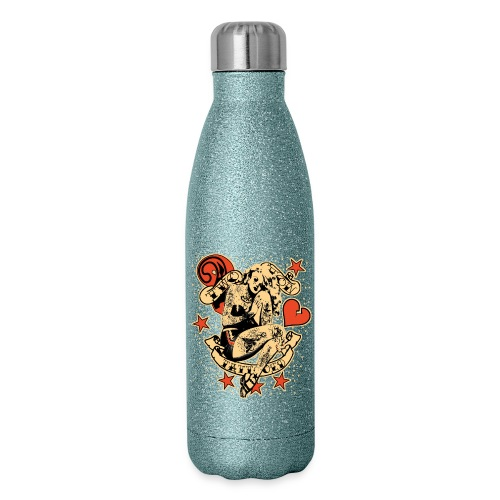 Screwed & tattooed Pin Up Zombie - Insulated Stainless Steel Water Bottle