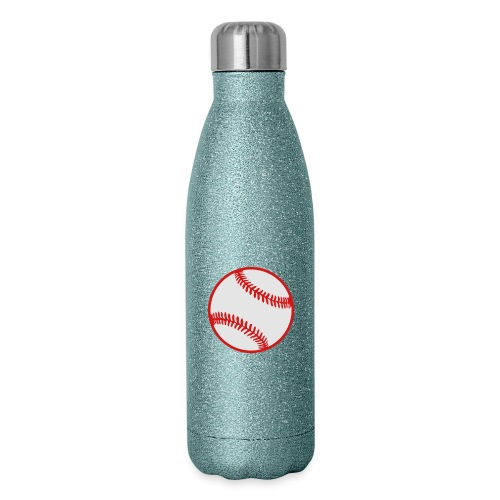 Baseball 2 color Team shirt - Insulated Stainless Steel Water Bottle